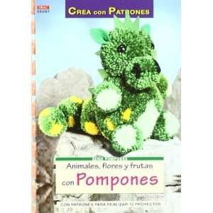 Animales, flores y frutas con pompones  crea con patrones