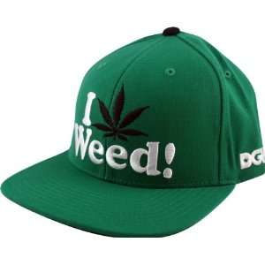 Love Weed Hat Adjustable Green Snap Back Skate Hats: Sports & Outdoors