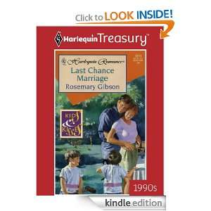 Last Chance Marriage (Romance) Rosemary Gibson  Kindle