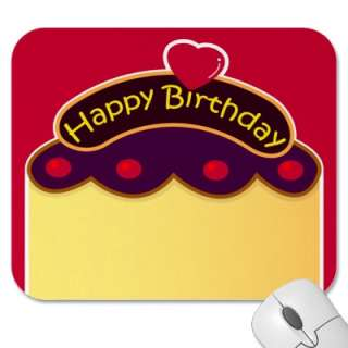 HBD cake Mousepad from Zazzle