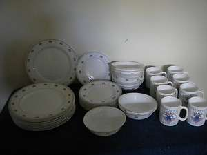 ARCOPAL FRANCE DINNERWARE SET TULIPS 42 PCS
