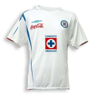 06 07 Cruz Azul away   $74.86  Football Shirts, Football Kit and