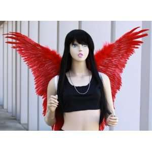 Red Feather Costume Wings Butterfly Angel Fairy Macaw