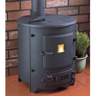 CLARKE CAST IRON BARREL WOOD/COAL BURNING STOVE/FIRE