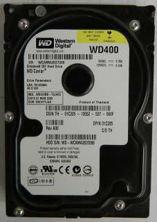 WD400BB 40GB Western Digital IDE/PATA 3.5 Hard Drive