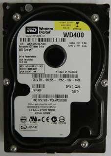 WD400BB 40GB Western Digital IDE/PATA 3.5 Hard Drive |