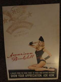 HARLEY DAVIDSON MILITARY American Bombshell DISPLAY NEW
