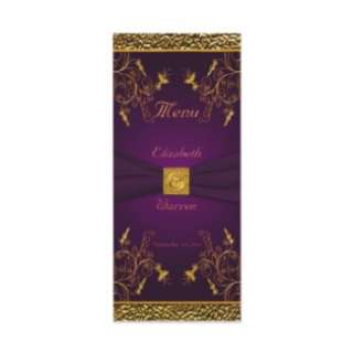 Royal Purple and Gold Monogram Wedding Invitation from Zazzle