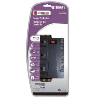 Shop PRIME 8 Outlet 2250 Joule Surge Protector at Lowes
