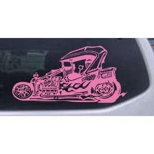 Rat Hot Rod Garage Decals Car Window Wall Laptop Decal Sticker    Pink
