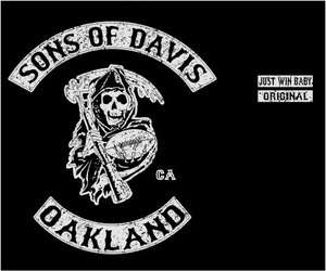 SONS OF DAVIS Oakland Al Los Angeles Raiders T Shirt Large