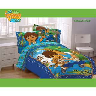 Go Diego Go Animal Rescue Twin Comforter: Kids & Teen Rooms