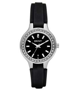 DKNY Watch, Womens Black Silicone Strap NY8143   All Watches