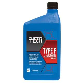 Super Tech Automatic Transmission Fluid Type F Automotive