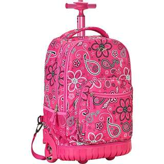 Rockland Luggage Sedan 19 Rolling Backpack   Pink