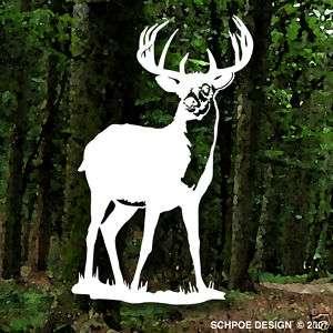 Big monster buck deer hunting decal bow hunter window