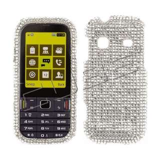 Silver CRYSTAL RHINESTONE DIAMOND BLING COVER CASE 4 Samsung Gravity