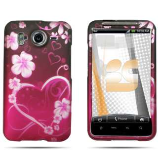 FOR HTC Desire HD ANDROID PHONE PINK PURPLE COVER CASE