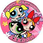 POWERPUFF GIRLS Round Edible CAKE Image Icing Topper Birthday Party