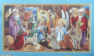 Bucilla NATIVITY Manger Counted Cross Stitch Xmas Kit