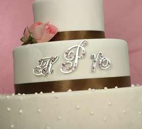 Monogram Crystal Letter Wedding Cake Topper
