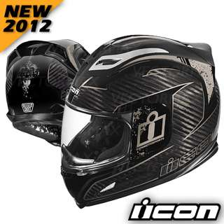 2012 Airframe Carbon Lifeform Motorcycle Street Helmet Black XS