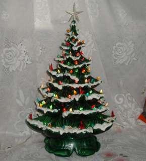 Atlantic Mold Lighted Ceramic Snow Christmas Tree 21