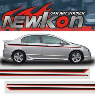 AUTO BODY GRAPHICS STICKER DECAL HONDA CIVIC DEL SOL SI