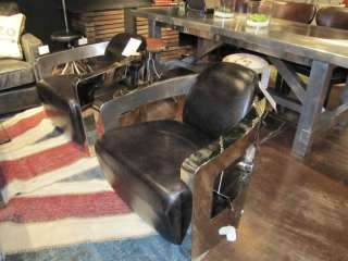 ... Sinclair Club Chair With Metal Arm Old Saddle Black Office Living Room  ...