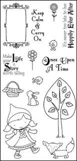 Darcies POL47 Once Upon A Time 14 Clear Stamps NEW