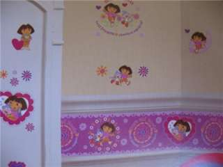 DORA THE EXPLORER BEST FRIENDS Girls Room WALL BORDER