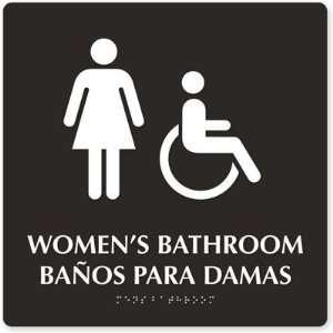 Womens Bathroom, Banos Para Damas (Female & Accessible
