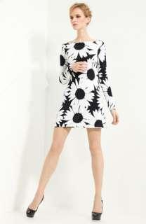 Blumarine Daisy Print Jersey Shift Dress