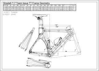 2013 STRADALLI T 7 TEAM AERO CARBON TIME TRIAL BIKE TRI FRAME SET TT