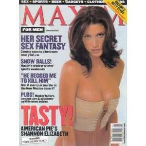Maxim Magazine Shannon Elizabeth January 2000 Issue: Maxim