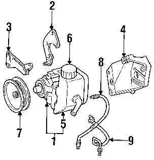 OEM Chrysler Jeep Power Steering Pump Adjusting Bracket 4.0L Mount
