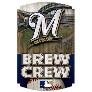 MLB   Milwaukee Brewers Brew Crew 11x17 Wood Sign Spors Fan Shop