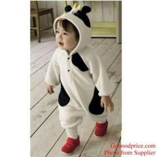 Animal Cow Character Baby Costume Boy & Girl Halloween Party Fleece