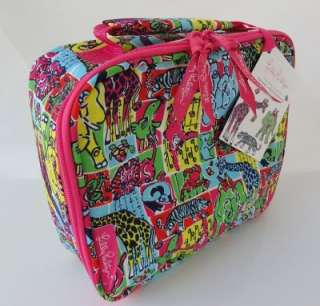 LILLY PULITZER Insulated Lunch Tote Bag Box PARTYLAND PATCH Animals