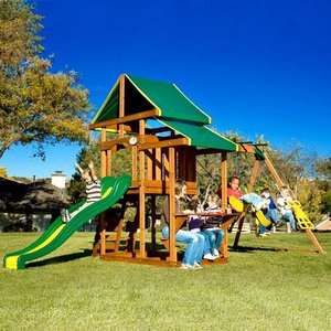 Adventure Play Sets Pathfinder Wooden Swing Set Outdoor Play
