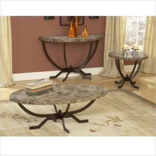 Faux Marble Top Matte Espresso Finish Coffee Table 796995931633
