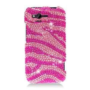 For Htc Rhyme/bliss Full Cs Diamond Case Hot Pink Zebra