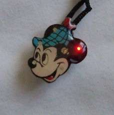 10 pc Mickey Mouse Body Flashing LED Blinky Necklace )