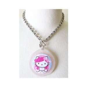 Tarina Tarantino Hello Kitty Pink Head Portrait Translucent Necklace
