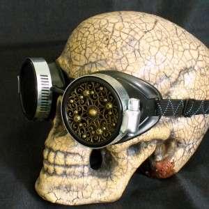 Goggles Glasses lens Victorian biker pirate Aviator motorcycle cBl 1