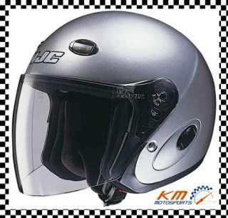 OPEN FACE STREET HELMET SOLID XXS X SMALL 2XS SILVER MOTORCYCLE