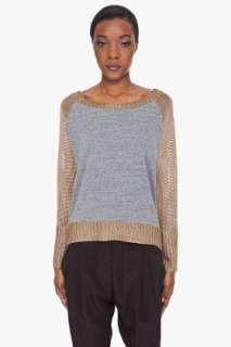 Haute Hippie Gold Tone Trimmed Sweater for women