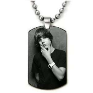 Justin Bieber Style 3 Dogtag Pendant Necklace w/Chain and