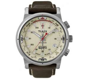 Timex Mens IQ Compass Leather Strap T2N725 Watch