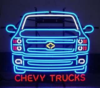 Neon Sign Chevy Truck GM Chevrolet open Mancave trucks